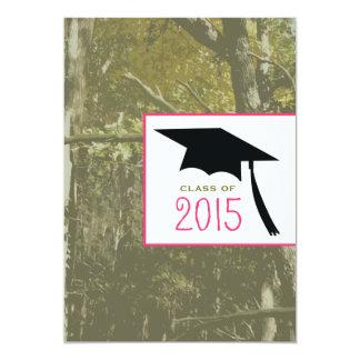 Camo y clase rosada de la invitación 2015 de la invitación 12,7 x 17,8 cm
