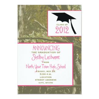 Camo y pica la invitación 2012 de la graduación invitación 12,7 x 17,8 cm