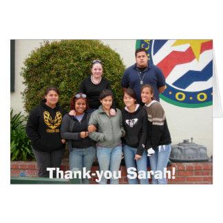 ¡Camp_Counselors, de agradecimiento Sarah! Tarjeta De Felicitación