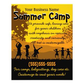 Campamento de verano que cuid losa nin¢os 4x5 del folleto 11,4 x 14,2 cm