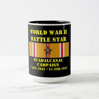 Campaña de Guadalcanal Taza De Dos Tonos