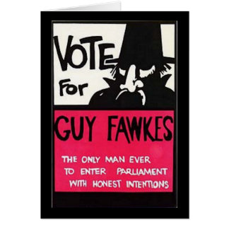 Campaña de Guy Fawkes Tarjeta De Felicitación