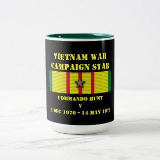 Campaña de la caza V del comando Taza De Dos Tonos