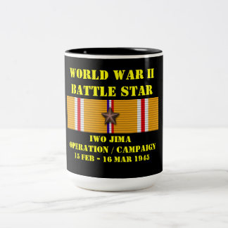 Campaña de la operación de Iwo Jima Taza Dos Tonos