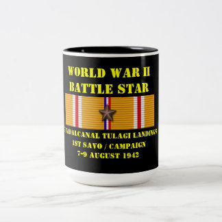 Campaña de los aterrizajes de Guadalcanal Tulagi Taza De Dos Tonos