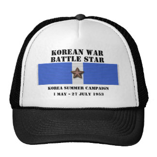 Campaña del verano 1953 de Corea Gorros Bordados
