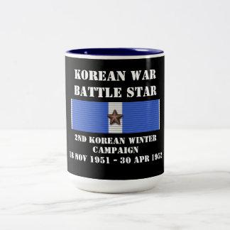 Campaña en segundo lugar coreana del invierno taza dos tonos