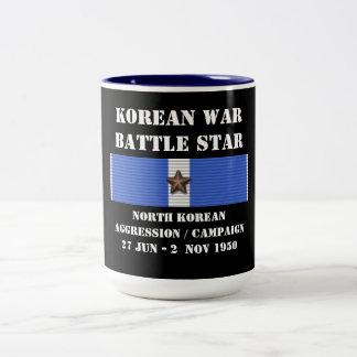 Campaña norcoreana de la agresión taza dos tonos