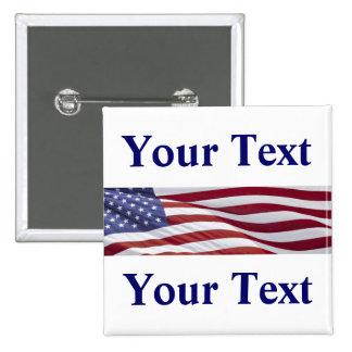 Campaña política patriótica chapa cuadrada 5 cm