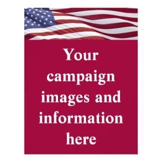 Campaña política patriótica folleto 21,6 x 28 cm