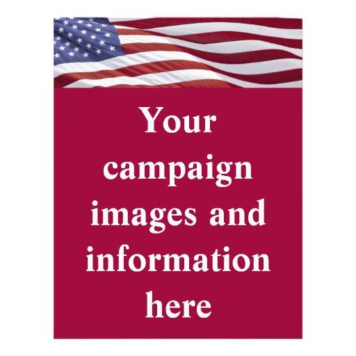 Campaña política patriótica tarjetas publicitarias