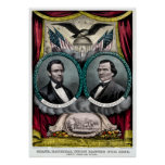 Campaña presidencial 1864 de Abraham Lincoln Póster