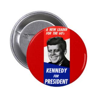 Campaña presidencial 1960 de Kennedy Chapa Redonda De 5 Cm