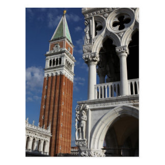 Campanario de San Marco en la postal de Venecia