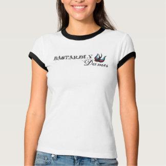 Campanero cobarde de las damas diseño básico camisetas