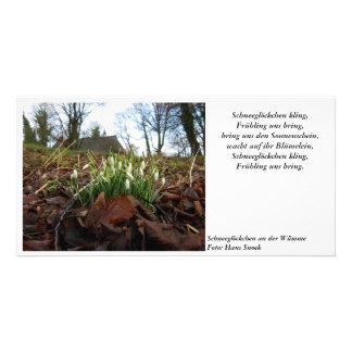 Campanilla de invierno tarjeta fotográfica personalizada