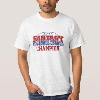 Campeón de la liga de fútbol de la fantasía camiseta