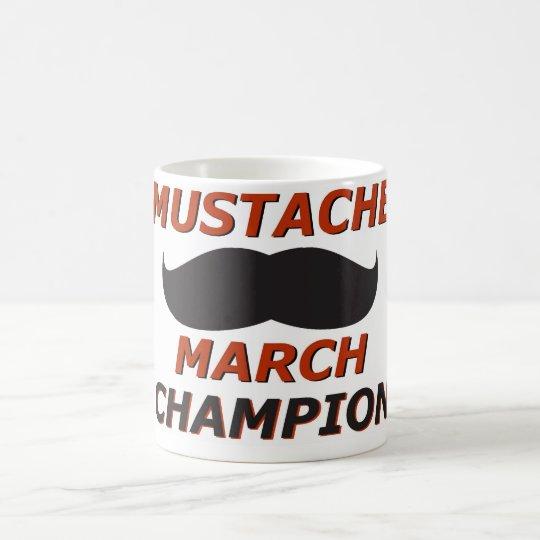 Campeón de marzo del bigote taza de café