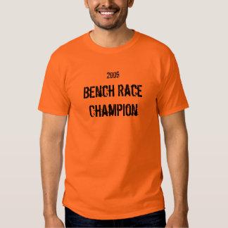 Campeón de raza del banco, 2009 camiseta