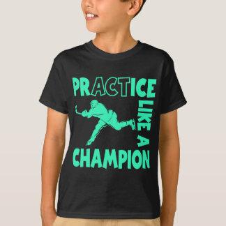 Campeón del hockey, aguamarina camiseta