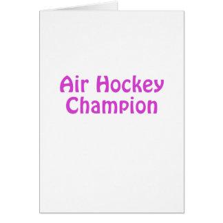Campeón del hockey del aire tarjeta