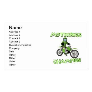 Campeón del motocrós tarjeta de negocio