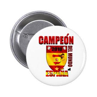 Campeón Del Mundo España Chapa Redonda 5 Cm