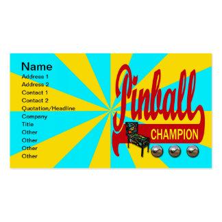 Campeón del pinball plantillas de tarjetas personales