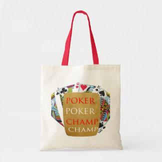 Campeón del póker ART101 - texto del diseñador del Bolsa De Mano