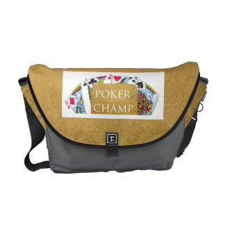 Campeón del póker ART101 - texto del diseñador del Bolsas De Mensajeria