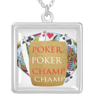 Campeón del póker ART101 - texto del diseñador del Colgante Cuadrado