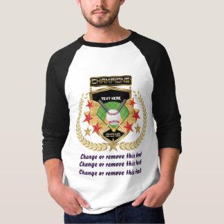 Campeón del softball Delantero-solamente Camiseta