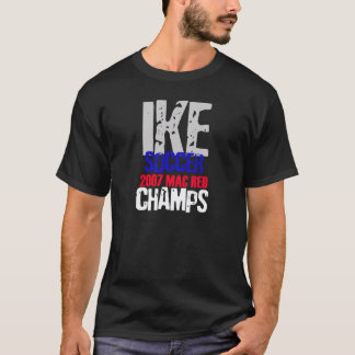 campeones 2007 del fútbol del ike camiseta