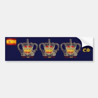 Campeones de España del euro de Europa 2012 reyes Pegatina Para Coche