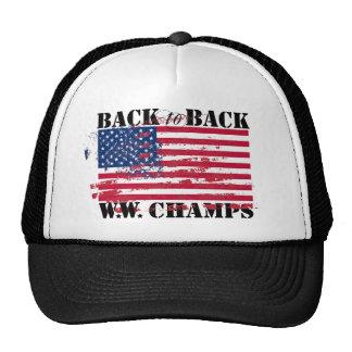 Campeones de la guerra mundial gorras