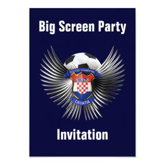 Campeones del fútbol de Croacia Invitación 12,7 X 17,8 Cm