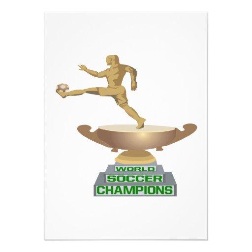 Campeones del fútbol del mundo invitación personalizada