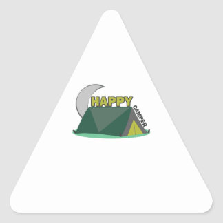 Campista contento colcomanias de triangulo
