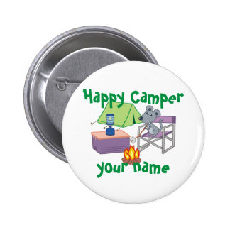 Campista contento personalizado pin