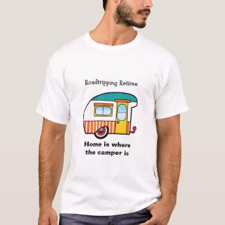 Campista Naranja-Rayado del jubilado de Camiseta