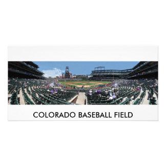 Campo de béisbol de Colorado Tarjetas Con Fotos Personalizadas