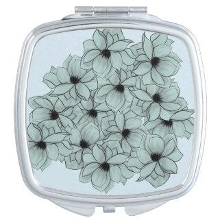 Campo de flores espejos para el bolso