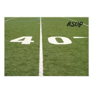 Campo de fútbol cuarenta invitación