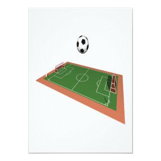 Campo de fútbol invitación 12,7 x 17,8 cm