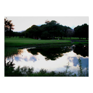 campo de golf en la República Dominicana Póster