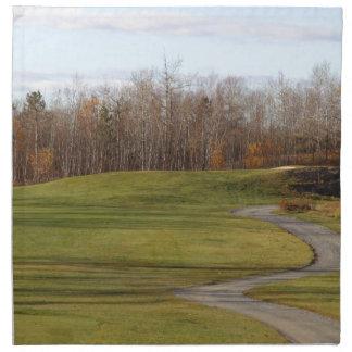 Campo de golf servilleta de tela