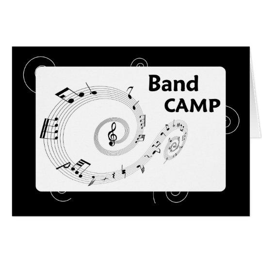 Campo de la banda, notas blancos y negros de la tarjeta de felicitación