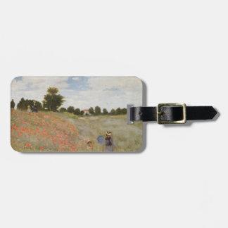 Campo de las amapolas Claude Monet Etiquetas Para Maletas