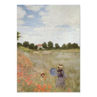 Campo de las amapolas Claude Monet Invitación 11,4 X 15,8 Cm