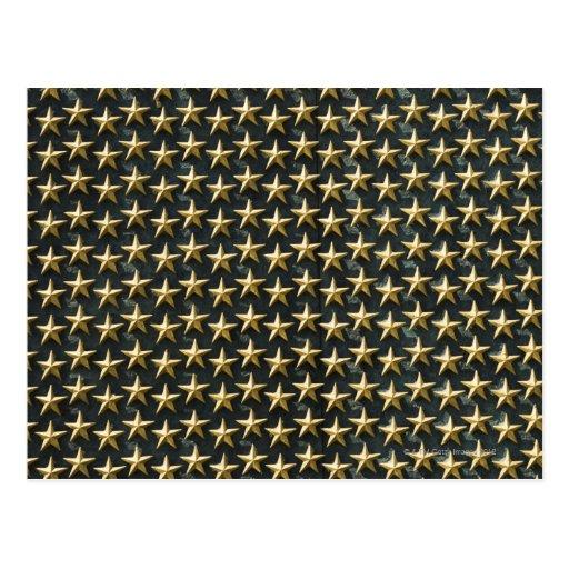 Campo de las estrellas del oro en el monumento de  postal